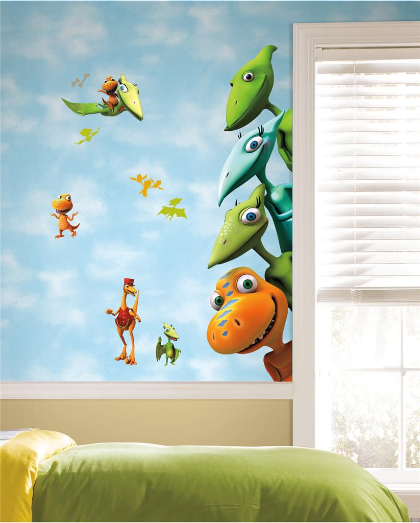 New large dinosaur train wall decals kids dinosaurs room for Kids dinosaur room decor