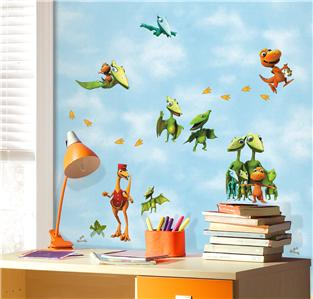 New dinosaur train wall decals kids dinosaurs bedroom for Kids dinosaur room decor