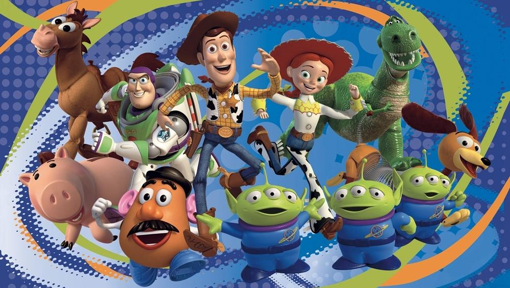 new xl toy story wallpaper mural buzz lightyear woody