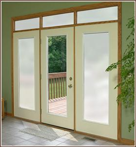 D Painted Privacy Film Glass Door Window