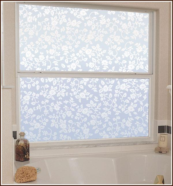 New Floral Eden Privacy Etched Glass Decorative Window Door Static Cling Film
