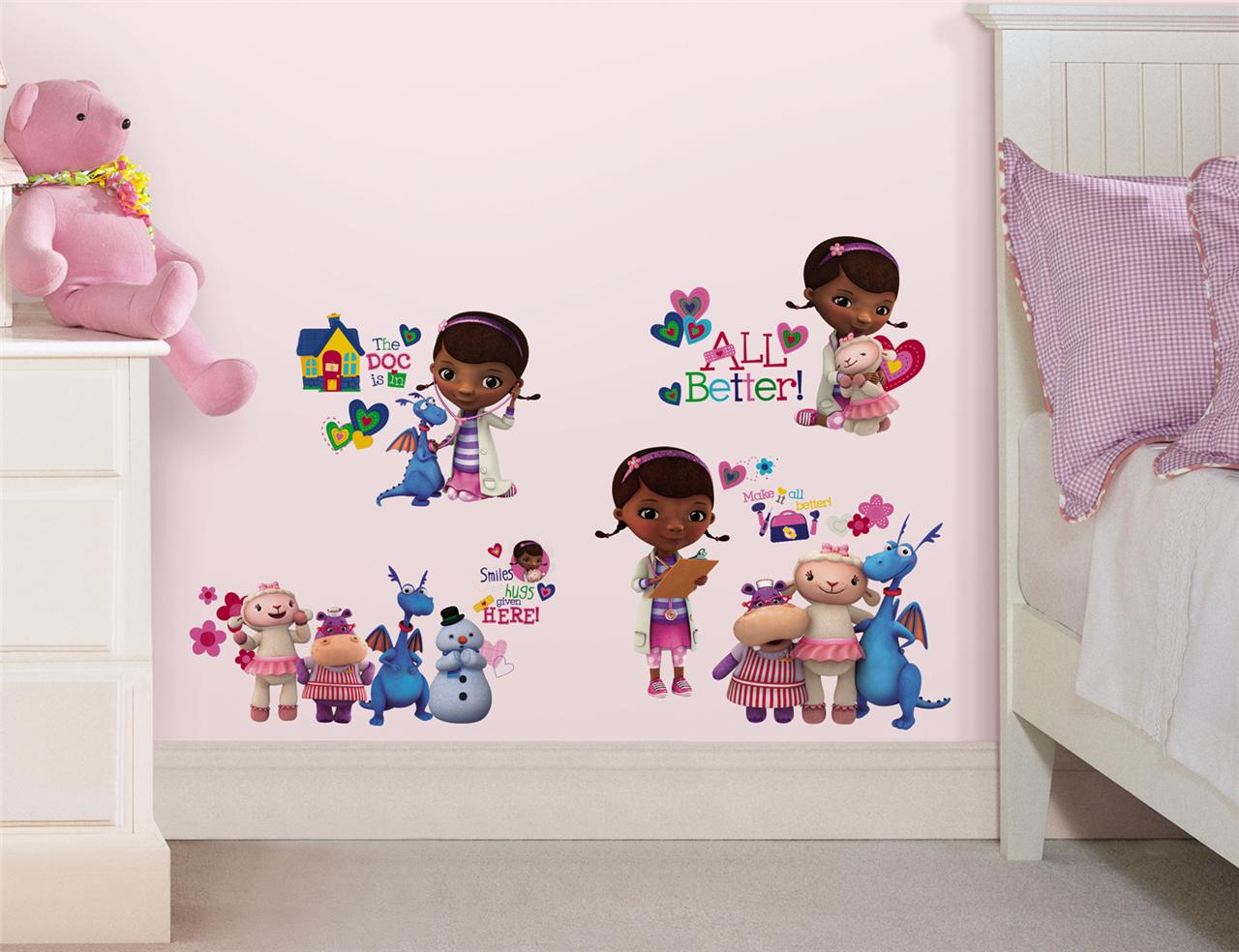 27 New Doc Mcstuffins Wall Decals Disney Bedroom Stickers
