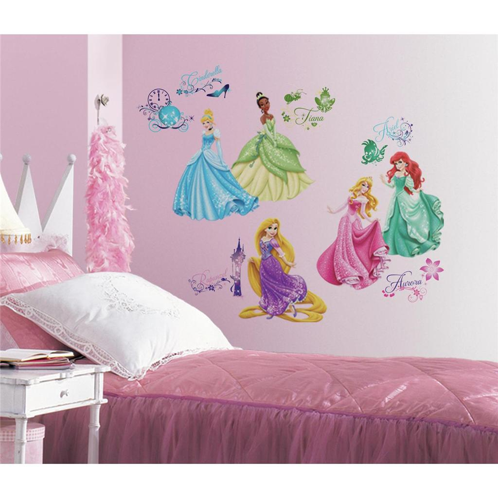 DISNEY PRINCESS WALL DECALS New Princesses ROYAL DEBUT Stickers Girls Room Decor