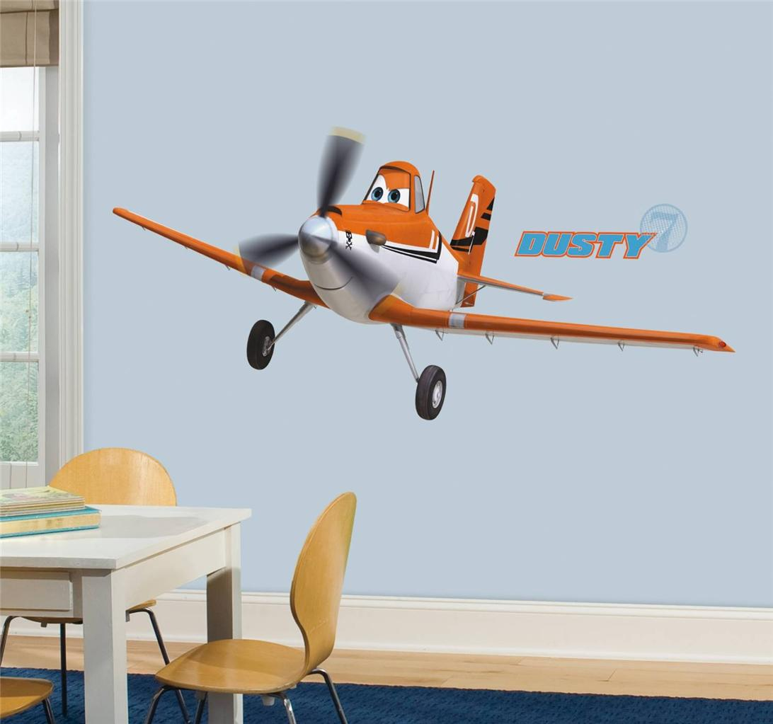 New Giant DISNEY PLANES DUSTY WALL DECALS Airplanes Stickers Boys Room Decor