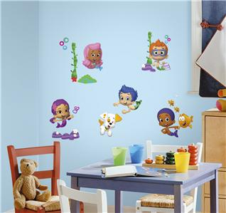 New bubble guppies wall decals nickelodeon stickers kids bedroom toy