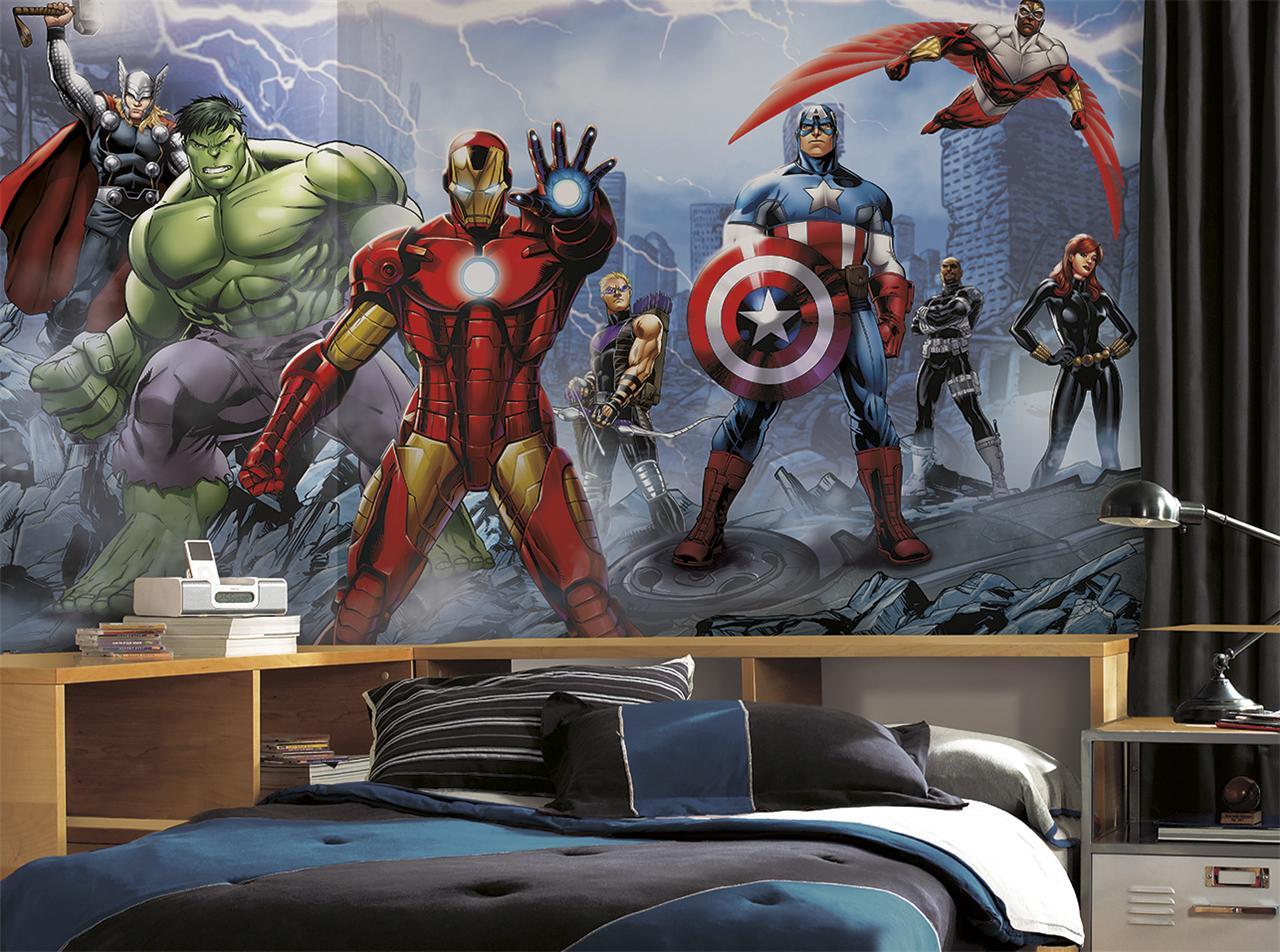 avengers wall mural | ebay