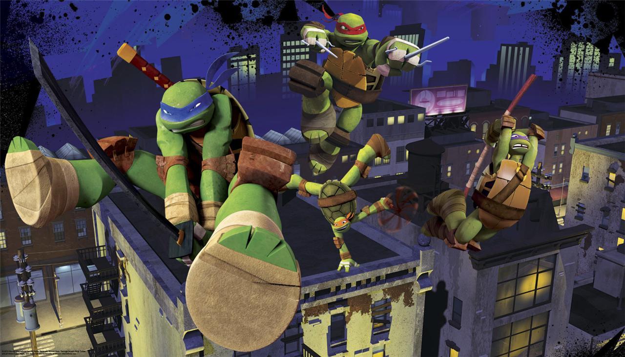 New Xl Teenage Mutant Ninja Turtles Prepasted Wallpaper