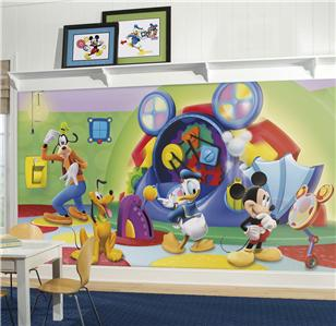 new xl mickey mouse clubhouse capers wallpaper mural kids. Black Bedroom Furniture Sets. Home Design Ideas