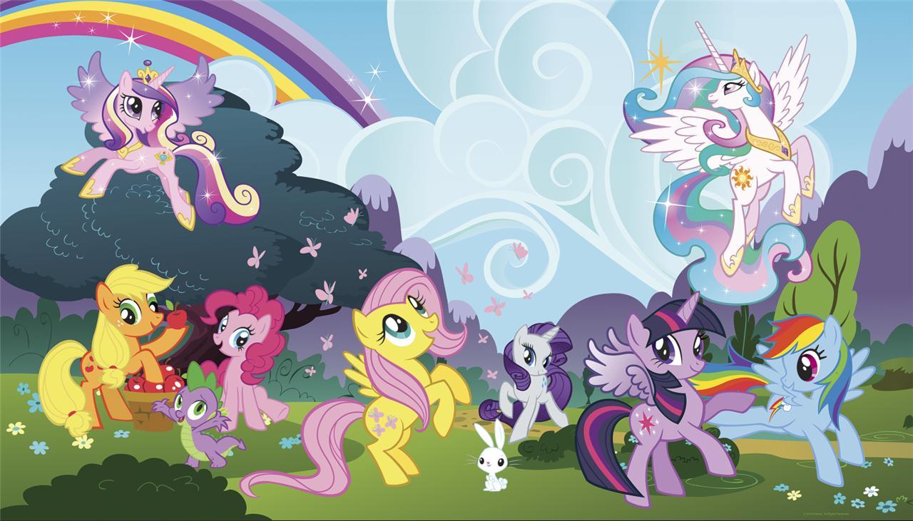 xl my little pony ponyville prepasted wallpaper mural girls bedroom