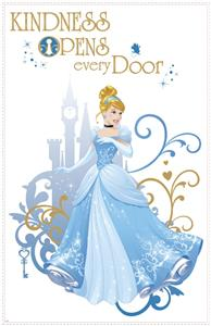 New giant princess cinderella wall decals disney for Barbie princess giant wall mural