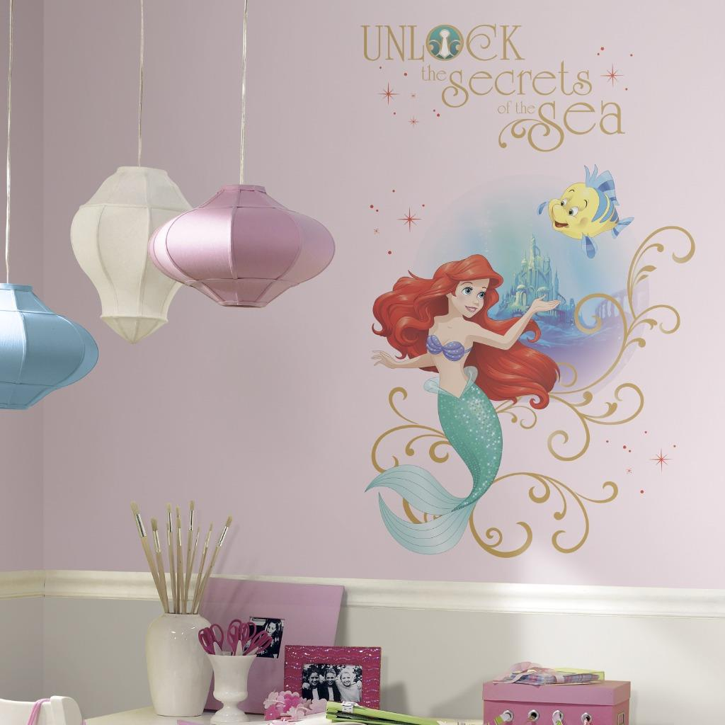 New giant little mermaid wall decals disney princess ariel for Disney princess wall mural tesco