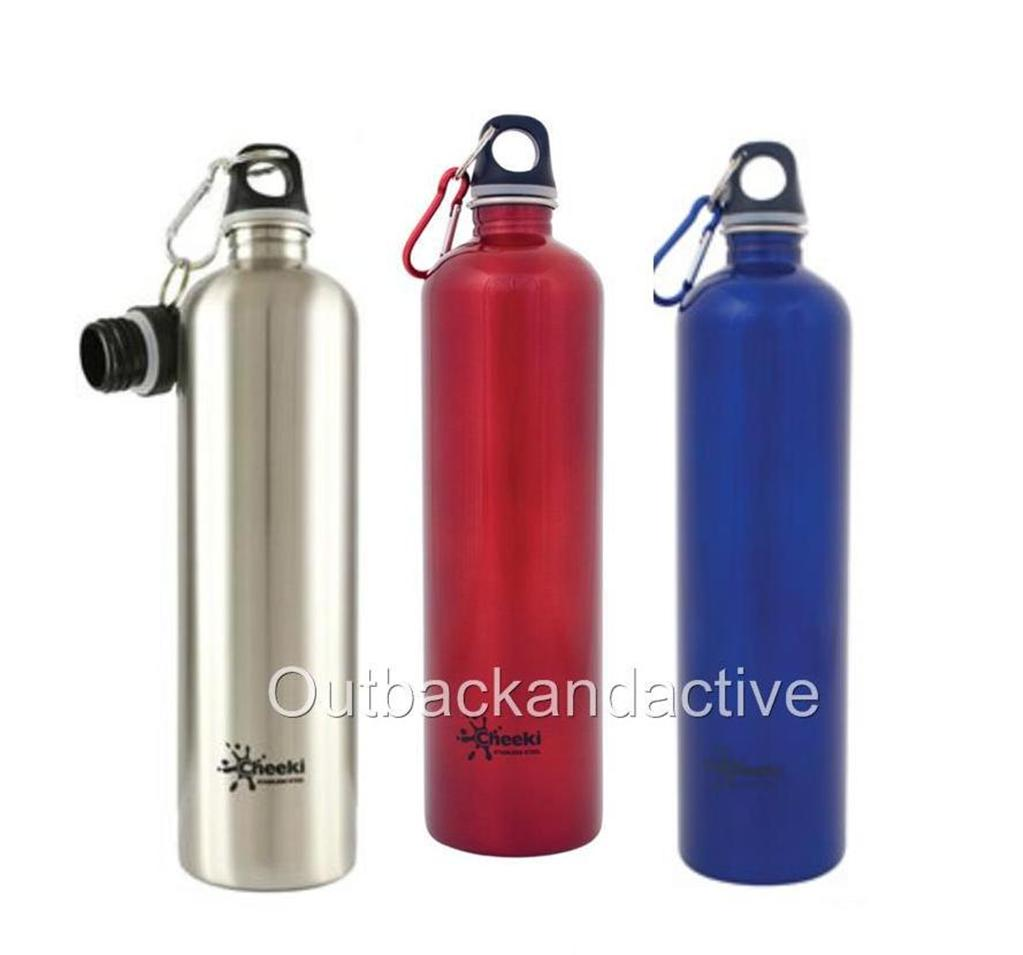 cheeki stainless steel 1 litre water drink bottle table picnic eco friendly 1l ebay. Black Bedroom Furniture Sets. Home Design Ideas