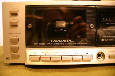 Vintage Realistic SCR 3000 AM/FM Stereo Cassette Receiver w Manual