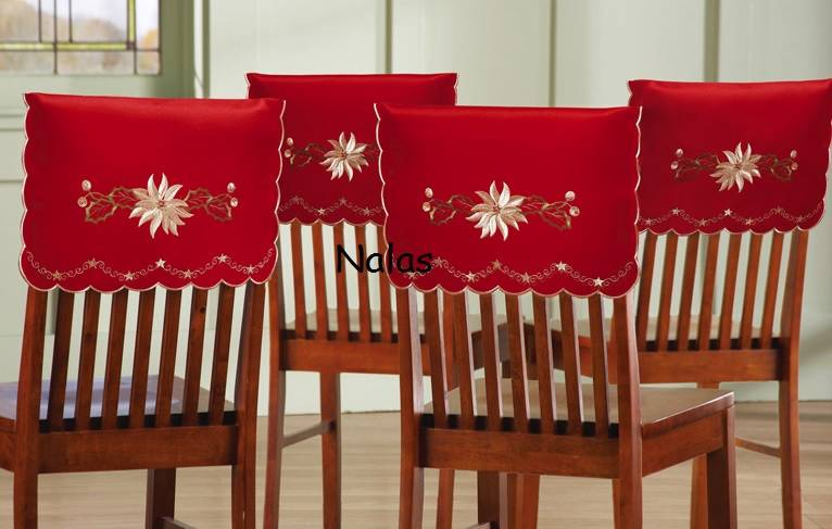 About elegant embroidered christmas holiday chair covers set of 4