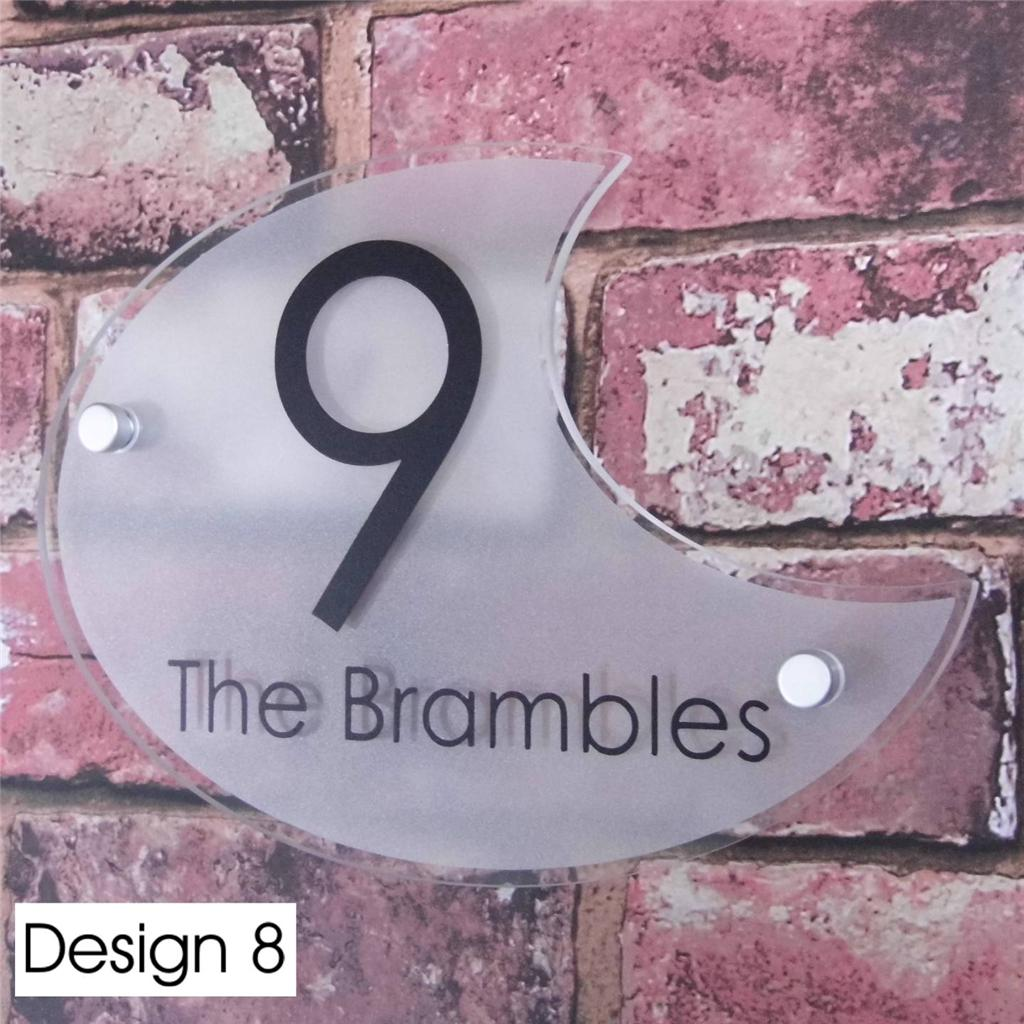 personalised house sign door number street address plaque glass effect acrylic ebay. Black Bedroom Furniture Sets. Home Design Ideas