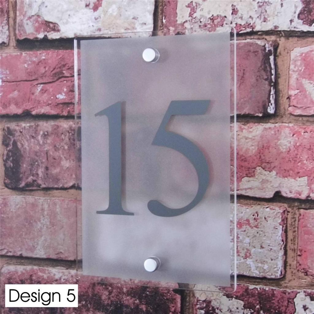 personalised house sign door number street address plaque glass effect acrylic ebay. Black Bedroom Furniture Sets. Home Design Ideas
