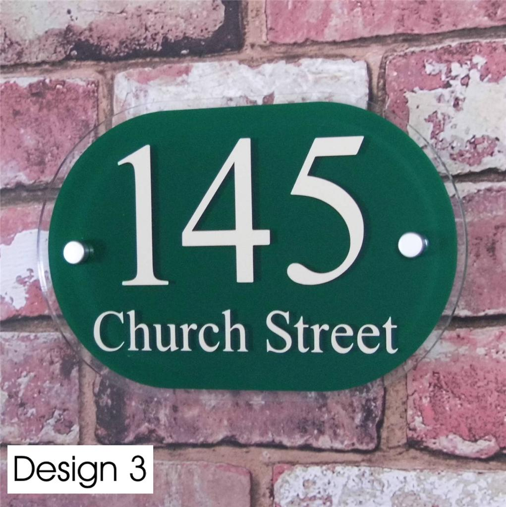 modern house sign door number street address plaque glass. Black Bedroom Furniture Sets. Home Design Ideas