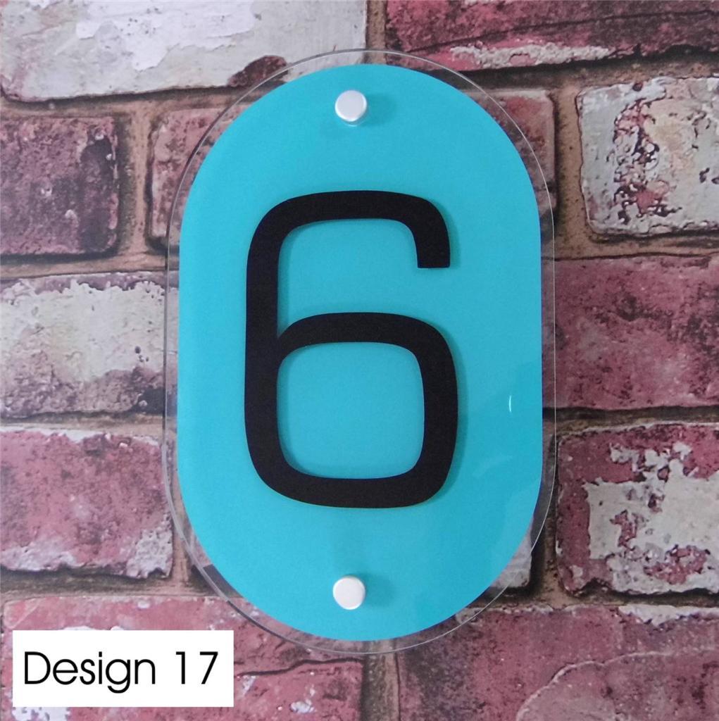 Modern House Sign Door Number Street Address Plaque Glass Effect Acrylic Ebay