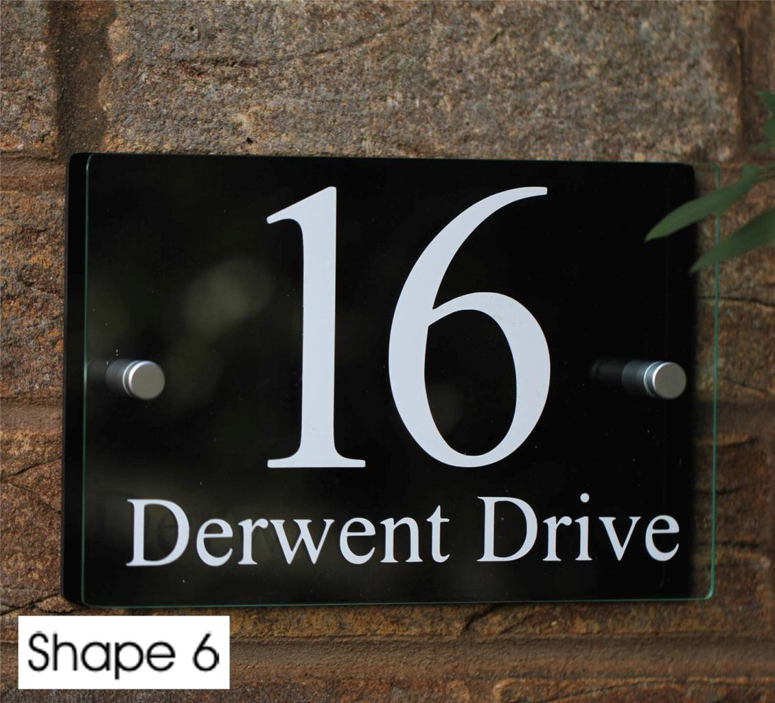 Modern house sign door number street name address plaque for Modern house number plaques