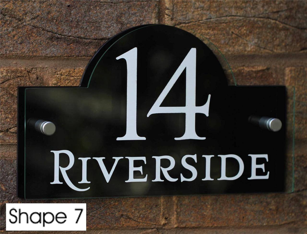 Modern house sign door number street nom address plaques for Contemporary house names