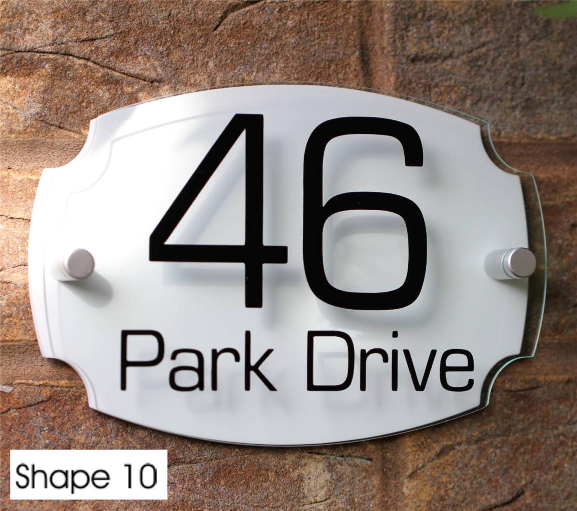 Modern House Sign Door Number Street Name Address Plaque