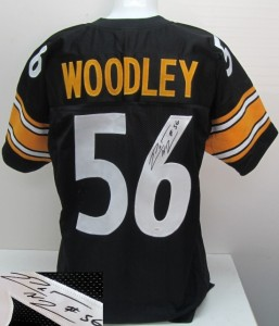 Lamarr Woodley Signed Pittsburgh Steelers Black Custom Jersey JSA