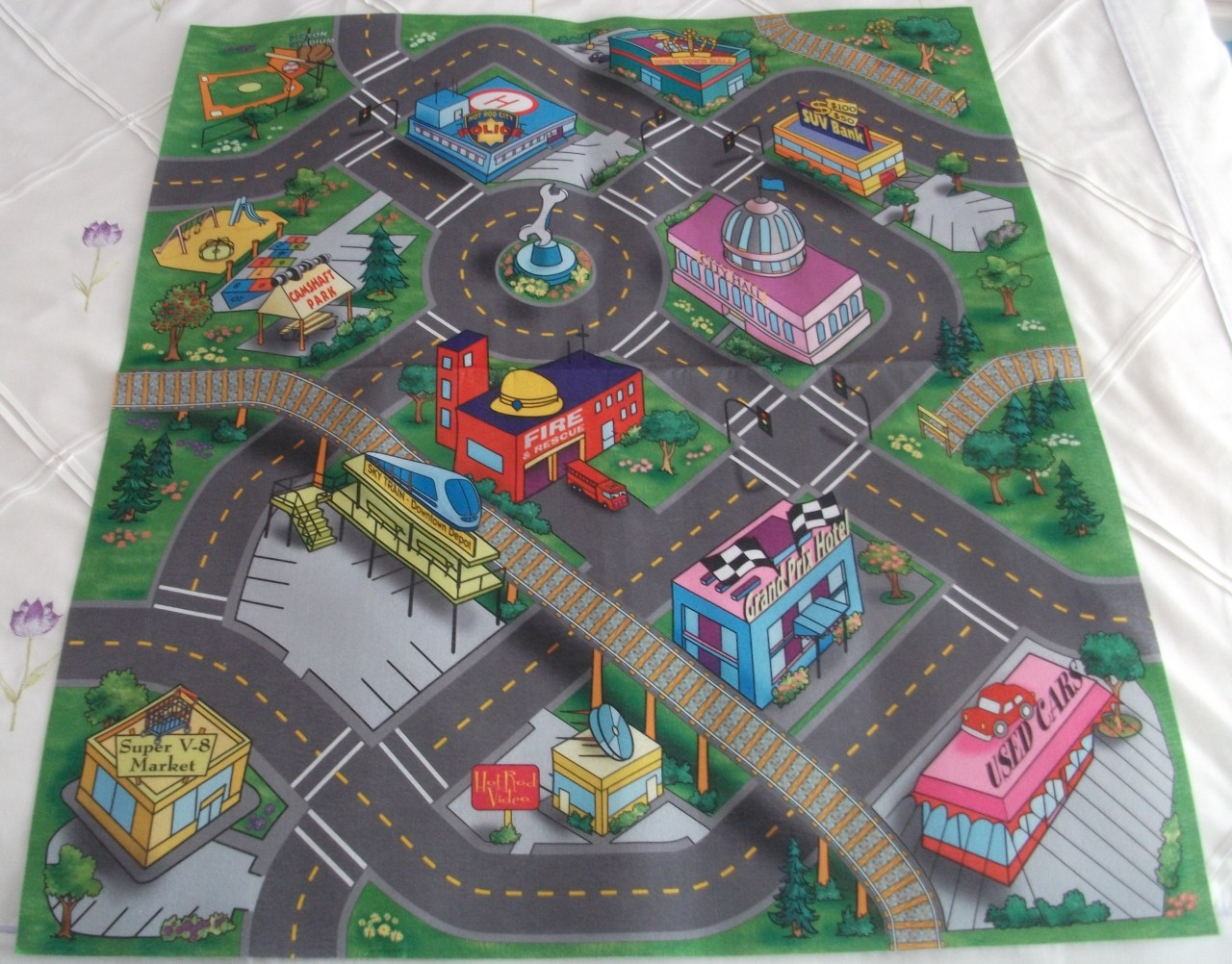 kids toddlers fun activity toy car play safe felt floor mat rug playmat next day ebay. Black Bedroom Furniture Sets. Home Design Ideas