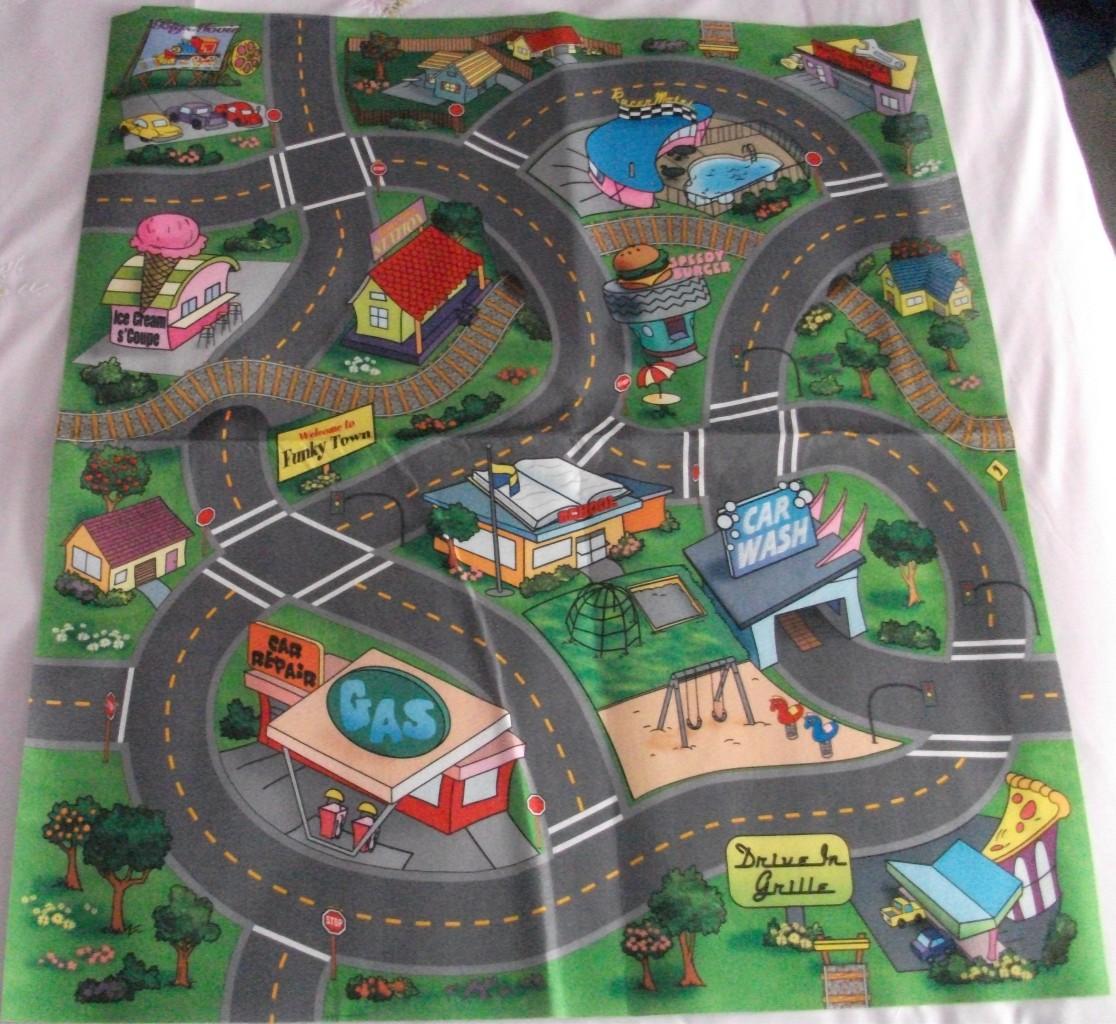 Kids Toddlers Fun Activity Toy Car Play Safe Felt Floor