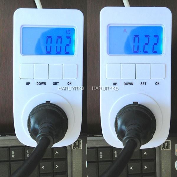 Plug In Watt Hour Meter : Plug a watt meter kwh time electricity analyzer power