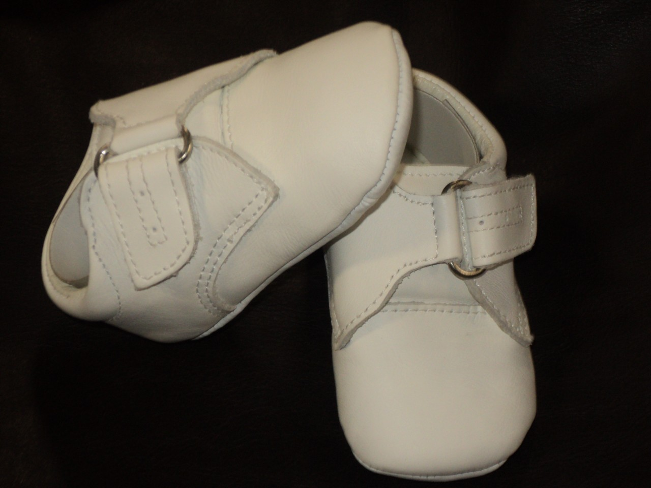 baby boy white leather shoes baptism christening dress