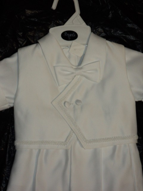 NEW-Christening-Baptism-SHORTS-Baby-BOY-White-Suit-Outfit-XS-S-M-L-XL