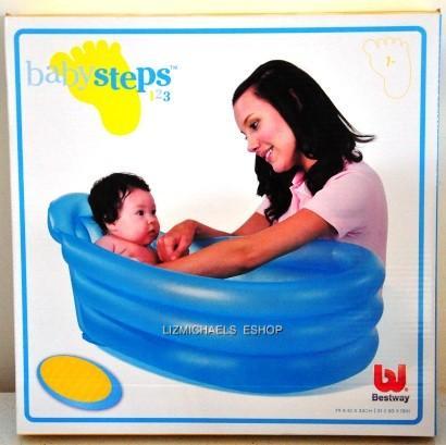 wow bestway inflatable baby bath tub portable travel bathtub ebay. Black Bedroom Furniture Sets. Home Design Ideas