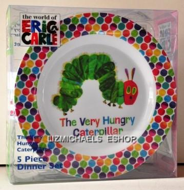 ... WOW-5PCE-THE-VERY-HUNGRY-CATERPILLAR-KIDS-DINNER- : hungry caterpillar plate set - pezcame.com