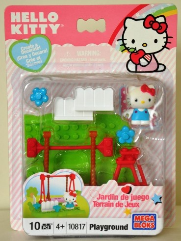 Wow mega bloks hello kitty playground swing lego friends - Lego hello kitty maison ...