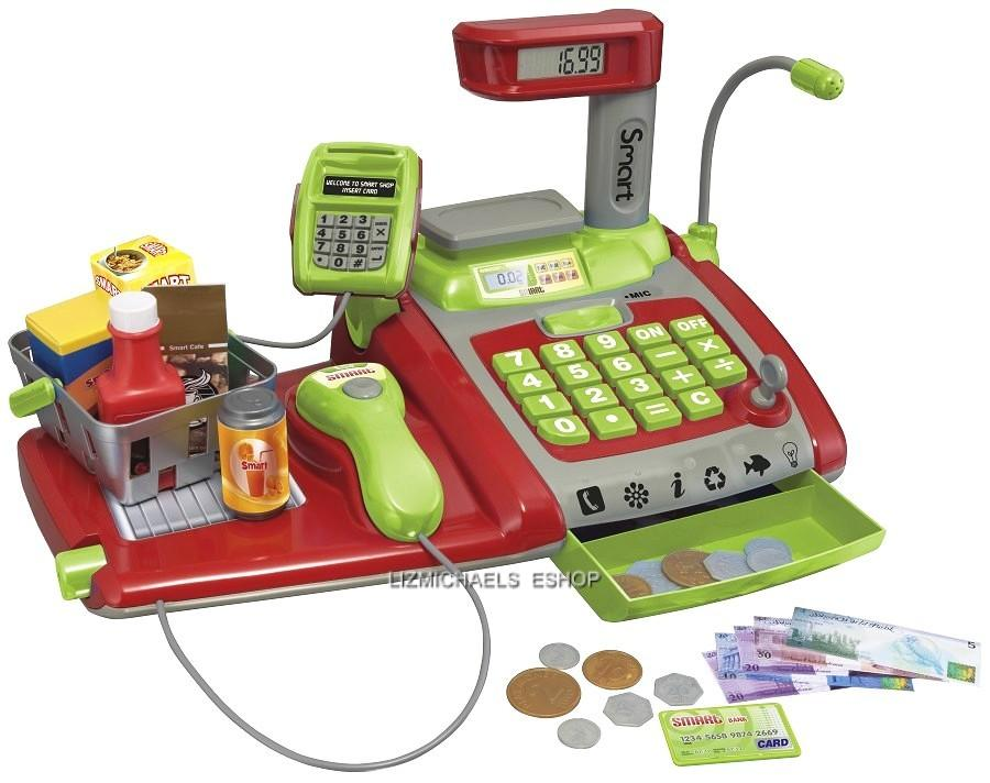 wow kids smart large electronic cash register working children pretend play toy. Black Bedroom Furniture Sets. Home Design Ideas