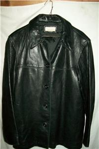 Details about Merona Leather Jacket/Coat, Women's Large
