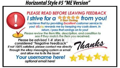 50 ebay seller custom personalized 5 star reminder thank you business cards ebay. Black Bedroom Furniture Sets. Home Design Ideas