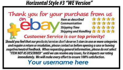 500 ebay seller professional look 5 star dsr rating thank for Ebay feedback request template