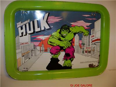 Mego 1979 Hulk TV Tray RARE Item Clean Graphics Cadence ...