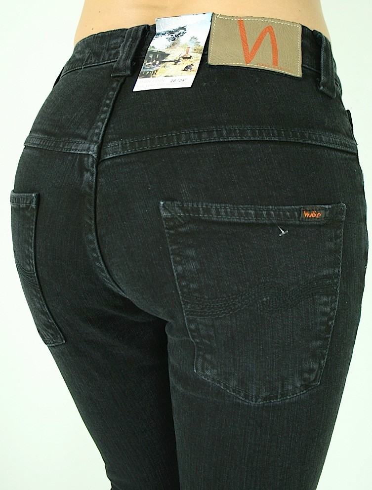 $220 Nudie Jeans Women Thin Finn Low Yoke