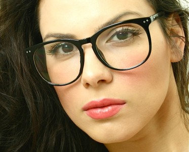 Eyeglass Frames For Large Eyes : Retro Vintage Huge Big Oversized Round Black Frame Key ...