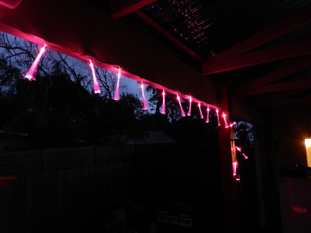 String Lights Long : 50 Pink Fibre Optic Spray Christmas String Light - 10 meters long eBay