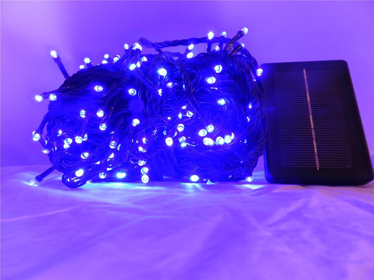 SOLAR 500 LED Bright Blue Outdoor Christmas Fairy String Light Decoration eBay