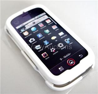 OEM T MOBILE WHITE HARD CASE COVER MOTOROLA CLIQ MB200