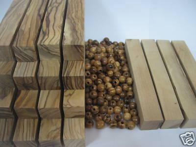 15 Holyland Olive Wood Pen Blanks 4 White Blanks 100