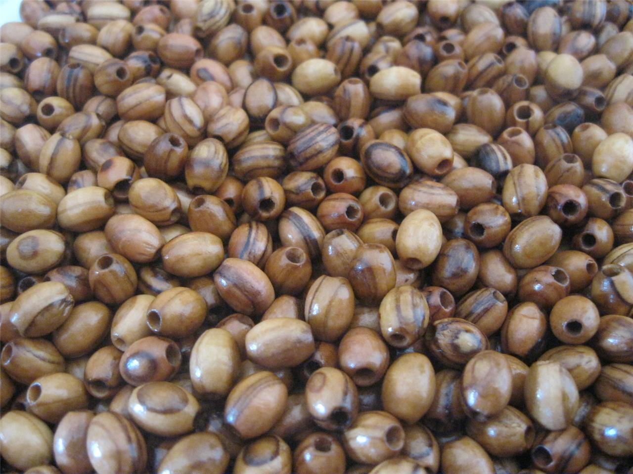 1000 Holy Land Olive Wood Oval Beads 9mm X 7mm For Rosary