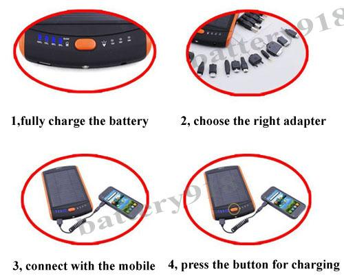 steps of using the battery for charging