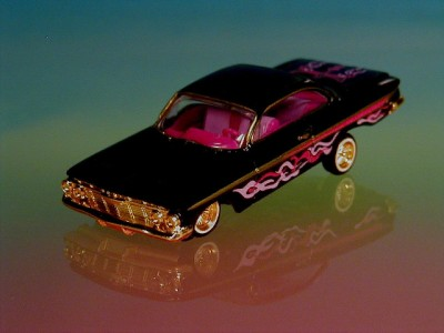 Hot 61 Chevy Impala Custom Lowrider Limited Edition 1/64 Scale