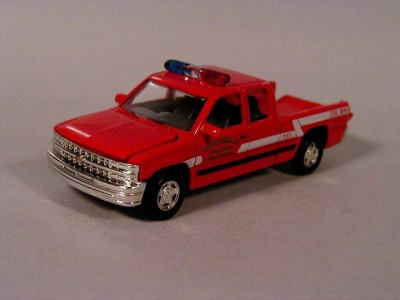 About hot 99 chevy silverado fire dept pickup truck le 1 64 scale