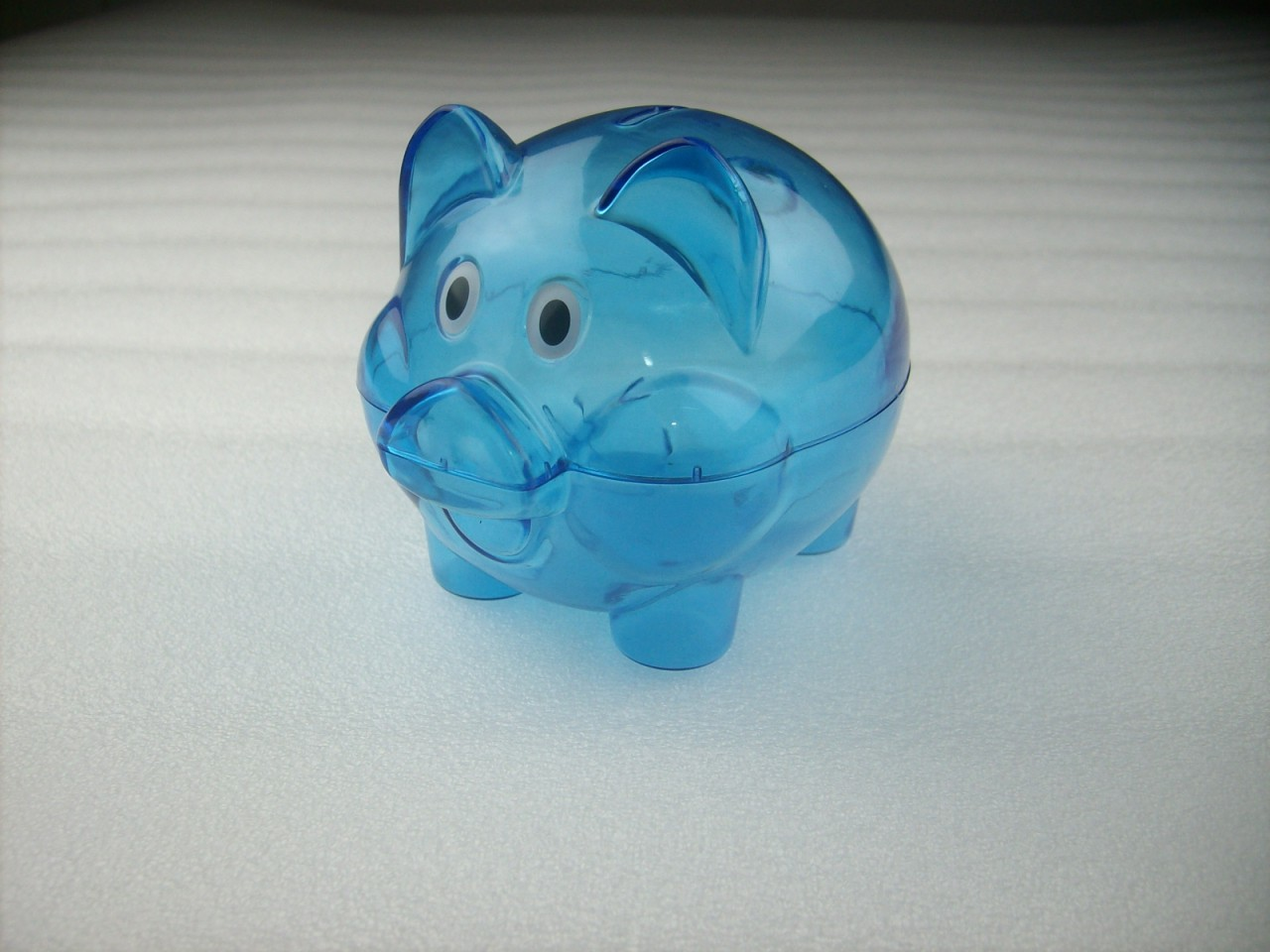 Mini transparent plastic coin pig piggy money bank blue without stopper ebay - Piggy bank without stopper ...